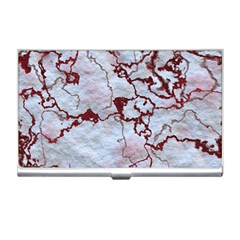 Marbled Lava Red Business Card Holders