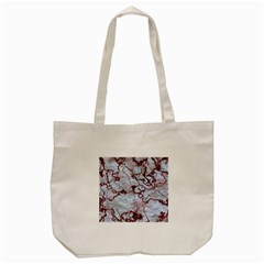 Marbled Lava Red Tote Bag (Cream)