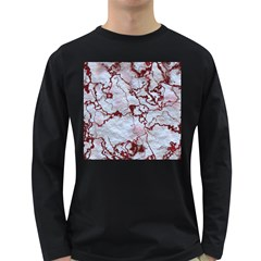 Marbled Lava Red Long Sleeve Dark T Shirts