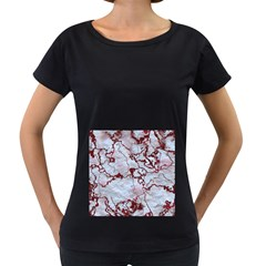 Marbled Lava Red Women s Loose Fit T Shirt (black)