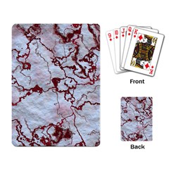 Marbled Lava Red Playing Card