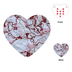 Marbled Lava Red Playing Cards (heart)
