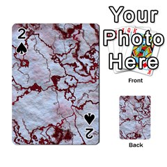 Marbled Lava Red Playing Cards 54 Designs