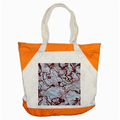 Marbled Lava Red Accent Tote Bag
