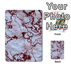 Marbled Lava Red Multi Purpose Cards (rectangle)