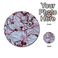 Marbled Lava Red Multi-purpose Cards (Round)