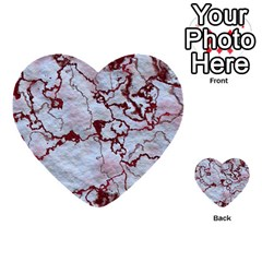 Marbled Lava Red Multi-purpose Cards (Heart)