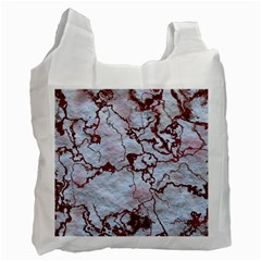 Marbled Lava Red Recycle Bag (One Side)