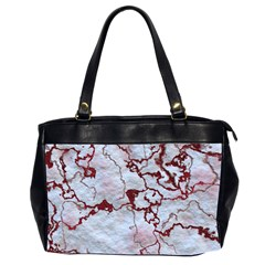 Marbled Lava Red Office Handbags (2 Sides)
