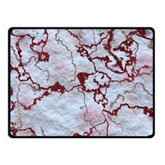 Marbled Lava Red Fleece Blanket (Small)
