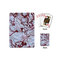 Marbled Lava Red Playing Cards (Mini)