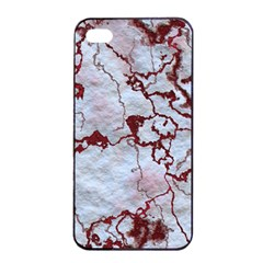 Marbled Lava Red Apple iPhone 4/4s Seamless Case (Black)