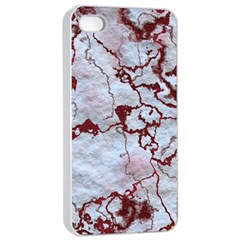 Marbled Lava Red Apple iPhone 4/4s Seamless Case (White)