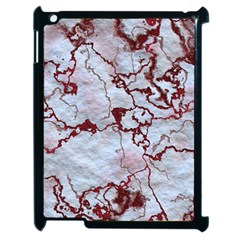 Marbled Lava Red Apple iPad 2 Case (Black)
