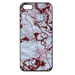 Marbled Lava Red Apple iPhone 5 Seamless Case (Black)