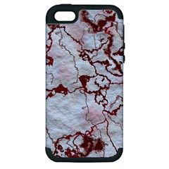 Marbled Lava Red Apple iPhone 5 Hardshell Case (PC+Silicone)