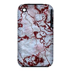 Marbled Lava Red Apple iPhone 3G/3GS Hardshell Case (PC+Silicone)