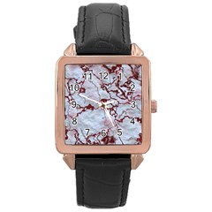 Marbled Lava Red Rose Gold Watches