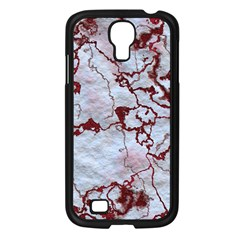 Marbled Lava Red Samsung Galaxy S4 I9500/ I9505 Case (Black)