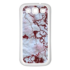 Marbled Lava Red Samsung Galaxy S3 Back Case (White)