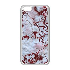 Marbled Lava Red Apple iPhone 5C Seamless Case (White)