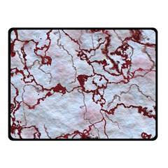Marbled Lava Red Double Sided Fleece Blanket (Small)
