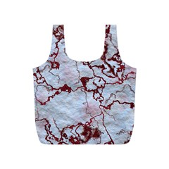Marbled Lava Red Full Print Recycle Bags (S)