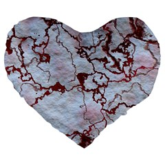 Marbled Lava Red Large 19  Premium Flano Heart Shape Cushions