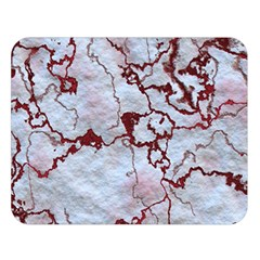 Marbled Lava Red Double Sided Flano Blanket (Large)