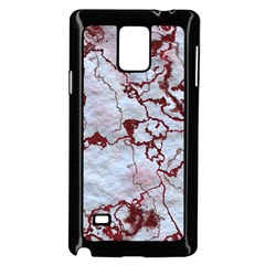 Marbled Lava Red Samsung Galaxy Note 4 Case (Black)