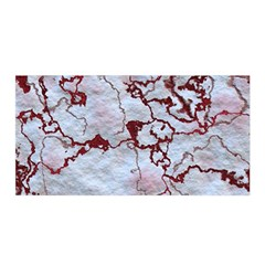 Marbled Lava Red Satin Wrap