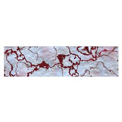 Marbled Lava Red Satin Scarf (Oblong)