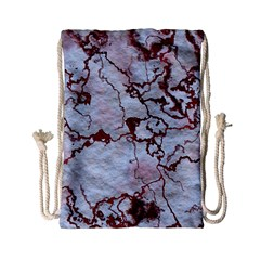 Marbled Lava Red Drawstring Bag (Small)