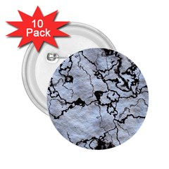 Marbled Lava White Black 2.25  Buttons (10 pack)