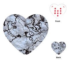 Marbled Lava White Black Playing Cards (Heart)