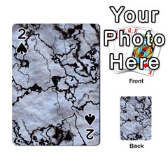 Marbled Lava White Black Playing Cards 54 Designs
