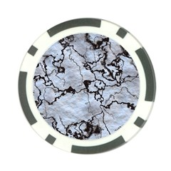 Marbled Lava White Black Poker Chip Card Guards