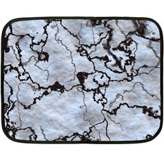 Marbled Lava White Black Fleece Blanket (mini)