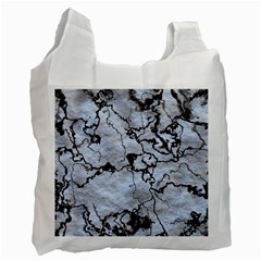 Marbled Lava White Black Recycle Bag (Two Side)