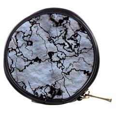 Marbled Lava White Black Mini Makeup Bags