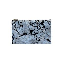 Marbled Lava White Black Cosmetic Bag (Small)