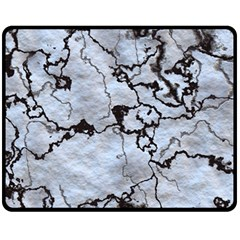 Marbled Lava White Black Fleece Blanket (Medium)