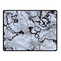 Marbled Lava White Black Fleece Blanket (Small)