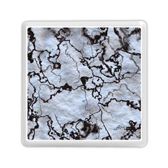 Marbled Lava White Black Memory Card Reader (square)