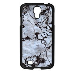 Marbled Lava White Black Samsung Galaxy S4 I9500/ I9505 Case (Black)