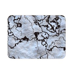 Marbled Lava White Black Double Sided Flano Blanket (mini)