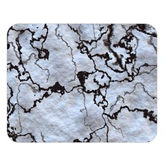 Marbled Lava White Black Double Sided Flano Blanket (Large)