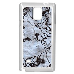 Marbled Lava White Black Samsung Galaxy Note 4 Case (white)