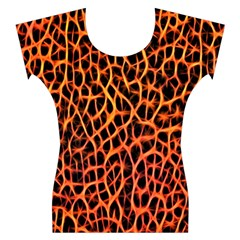 Lava Abstract  Women s Cap Sleeve Top