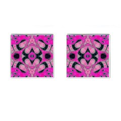 Pink Black Abstract  Cufflinks (Square)